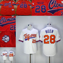 custom MEN YOUTH Clemson Tigers baseball Jersey 28 Seth Beer DeShaun Watson home Away Any Name # Stitched