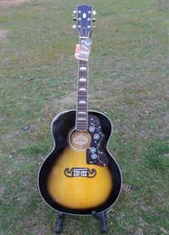 Promotion acoustique de érable flammé Vente en gros-2016 Nouvelle arrivée J200 flamme érable acoustique guitare, guitare électrique acoustique, immédiatement expédition