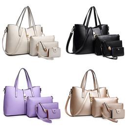 Monederos de las señoras de color beige en venta-4PCS / set Los nuevos bolsos compuestos del diseño 7 forman a bolso de la manera Handbag + Messenger Bag + Purse + Card Sostenedor Bolsos 4PCS / SET