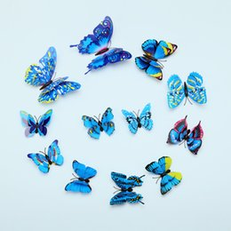 Simulation butterfly PVC stereo butterfly creative butterfly decoration fashion color butterfly stickers decorative magnet butterfly