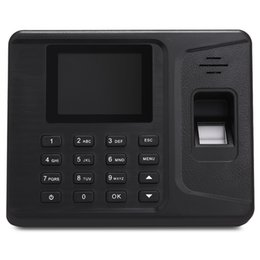 Machine à horloge d'empreinte digitale en Ligne-Vente en gros - 2,8 pouces Écran Biometric Fingerprint Attendance Machine Clock Recorder Employee Digital Electronic Reader Machine