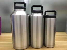 Wholesale 18oz oz oz Rambler Stainless Steel Cups Large Capacit Cooler oz Rambler Tumbler bottle Vehicle Mug Double Wall Bilayer Vacuum