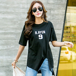 Alien Korean version of loose short skirt short sleeve women's clothing camouflage T-shirt tide women's tunic T-shirts for women 6639