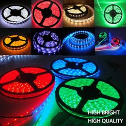 Wholesale high quality flexible DC12v rgb waterproof m roll led strip light for business signs outdoor indoor decoration