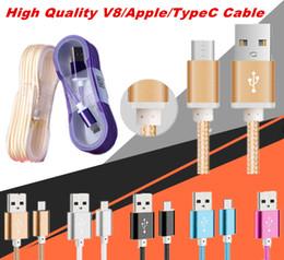 2017 cargos cables iphone 1.5M de largo fuerte trenzado USB Cable de carga para teléfonos inteligentes Samsung HTC Sony LG Micro alambre USB con enchufe de cabeza de metal de alta calidad económico cargos cables iphone