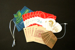 Wholesale Customized Cloth Printed Printing Hang Tag Hangtags Color Printing Label Clothing Tags Paper labels Custom Tags