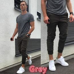 The latest autumn and winter fashion men's foreign trade jeans, nine pairs of pants, trousers,Teenagers leisure color, Europe Street pants