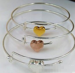 Wholesale Fashion alex and ani Bracelet Alloy Casting Knot Love Bracelet Open Cuff Bangle Heart Charm Bangles Gift For Women