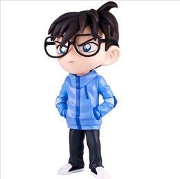 Promotion la figure conan Figurine d'action Detective Conan Case Fermé Kimono Skateboard Pirate Cartoon 18cm poupée en PVC jouets cadeaux Collection Modèle Anime
