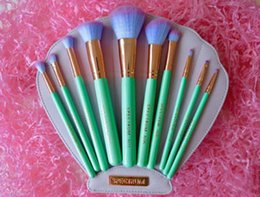 Wholesale dropship in stock Spectrum Brushes Mermaid Dreams Piece Vegan Brush Set Glam Clam Case Vegan Brush Set