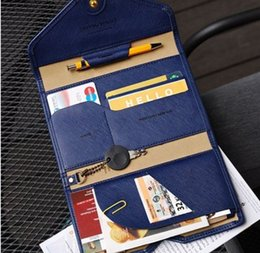 Wholesale High Quality Passport Holder European And American Style Useful Nice Credit Card Travel Wallet Airplane ticket holder