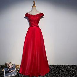 2017 alfombra roja del hombro fuera 2017 rojo A-Line vestidos de noche sexy de los vestidos largos del baile de fin de curso del hombro de la Piso-Longitud de la alfombra roja del baile de fin de curso alfombra roja del hombro fuera Rebaja