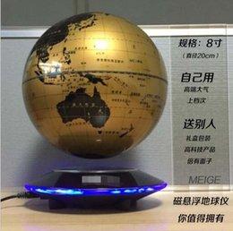 Promotion flotteurs électroniques 8 pouces NewCreative électronique magnétique levitation flottante Globe World Map avec LED Lights festival d'anniversaire de bureau de décoration Business Gift
