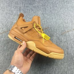 Wholesale 2017 Air Retro Men Basketball Shoes Premium Wheat Ginger Health plastic Yellow Sneakers Mens Athletic Trainers Retros s Sport Shoe