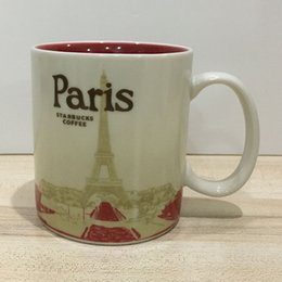 16oz Capacity Ceramic Starbucks City Mug Best Classical Coffee Mug Cup Paris City