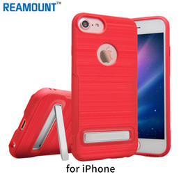 Wholesale 3D Holder Phone Case TPU Kickstand Case for iPhone 7 7 Plus Phone Back Cover with Stand Case