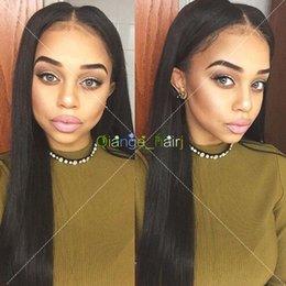 2017 cordón lleno recta superior de seda Straight Full Lace Pelucas de Pelo Humano Silk Top Glueless Full Lace Wigs Para Negro Mujer Peruvian Hair Silk Base Wigs barato cordón lleno recta superior de seda