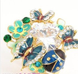 colorful crystal flower lady's ring all size (ming) e ee