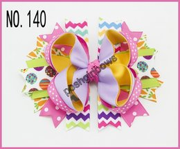 free shipping 2016 newest 30 pcs Easter festival hair bows Girl Hair Bows clip