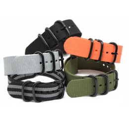 Foreign trade platform NATO NATO strap a new fashion black and white five-ring waterproof military cattle ring nylon strap
