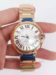 2017 los mejores relojes de moda de calidad Nuevo Reloj de oro de lujo de Rose de la nueva calidad ETA-2824 Relojes automáticos de la manera de los biseles 42m m del diamante del reloj del movimiento de la mejor calidad presupuesto los mejores relojes de moda de calidad