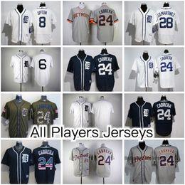 Detroit Tigers All Jerseys 24 Miguel Cabrera 23 Kirk Gibson 6 Al Kaline 9 Nick Castellanos And More BaseBall Jerseys (Flex Base  Cool Base)