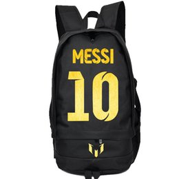 Wholesale Lionel Messi backpack Football star school bag Soccer fans daypack Best player schoolbag Outdoor rucksack Sport day pack