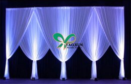 Hot Sale 10ft*20ft White Color Wedding Backdrop Curtains Free Shipping