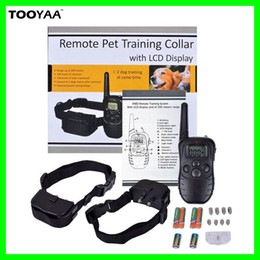 Wholesale 300M Remote Anti Barking Pet Dog Training Collars with LCD Dispaly LV Yard Electric Shock Vibration Pets Dogs Agility Training Tools