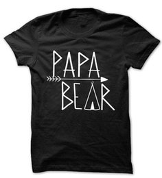 Wholesale New Daddy Baby Shower Grand père Grandpop Granddad Papa T shirt Papa Bear T shirt Fathers Day Gift Ideas T shirt Tee