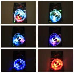 Discothèque clignotant conduit à vendre-60pcs (30 paires) LED lacets lacets Flash Light Up Glow Stick sangle lacets disco Party patinage Sports Glow Stick ex