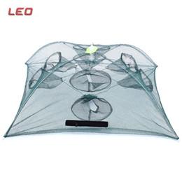 Креветки для рыб для продажи-LEO Переносная складная рыболовная сеть Прочная 8-луночная креветочная краба Crawdad Minnow Рыболовная сеть Маленькая ловушка для ловушек с сеткой Ловушка для рыбалки Net + B
