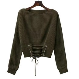 2017 European and American autumn and winter new high quality band binding belt of sexy knitwear sweater
