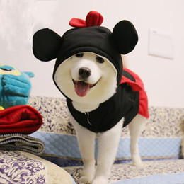 Большие костюмы для собак для продажи-Большая Одежда для собак мелких животных пальто зимней одежды Мультфильм Микки Минни костюмы собака комбинезон Забавный щенок Hoodie одежды костюм бесплатную доставку