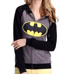 Wholesale Vlent Plus Size Autumn Winter Fleece Warm Tracksuit Women Causal Batman Print Long Sleeve Hoodies Cartoon Sweatshirt Clothing