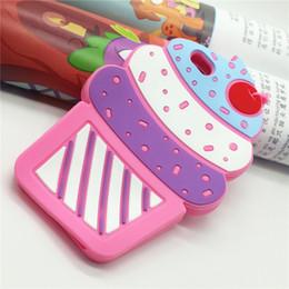 Coque Fundas 3D Ice Cream mirror case Casing Rubber Phone Case For iPhone 5 5s SE 5C for IPone 6 6S 7 7Plus