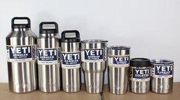 Wholesale All Sizes Yetis Rambler Tumbler oz Lowball oz Colster oz oz Mugs oz oz oz Bottle Stainless Steel Yetis Mugs