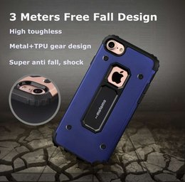 Wholesale New Motomo Metal Case super armor Anti earthquake and anti fall cell phone case For Apple iPhone S Plus Case