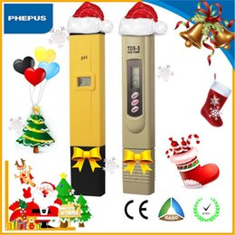 Wholesale china direct PHEPUS Digital PH Meter TDS Tester Monitor for Aquarium RO Filter Industry Laboratory good choose for Christmas gi