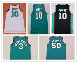 Wholesale Best Quality Vancouver #10 Mike Bibby jersey #50 Bryant Reeves Stitched Mesh retro basketball Jersey free shipping Mix Order