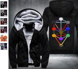 Wholesale CabalaKabalaQabalahKabbalah sweatshirt Winter Men Thick Hoodies Sweatshirt Zipper Fleece Tracksuit