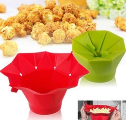 Wholesale Popcorn Maker Silicone Foldable Easy To Use Popcorn Machine Kitchen Tools For Microwave Kitchen Appliance colors