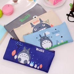 2017 enfants de bande dessinée étudiants sacs Le dessin animé de bande dessinée de Miyazaki Totoro fait des sacs à main des sacs de papier peint d'Oxford des enfants de sacs de papier peint de lapin de 19 * 9cm DHL libèrent le bateau enfants de bande dessinée étudiants sacs autorisation