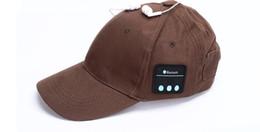 Sombreros casual para los hombres en venta-Casquillos ocasionales sin hilos del deporte de Sunhat del auricular del sombrero del algodón de los Multi-colores de la gorra de béisbol de la música de la manera de Bluetooth de la manera para las mujeres 15pcs DHL de los hombres