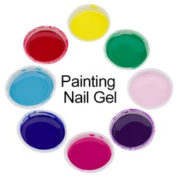 Wholesale Nail Art Painting Lacquer Gel Colorful Semi Permanent Nail Polish D Painted UV Gel Acrylic Vernis Gel