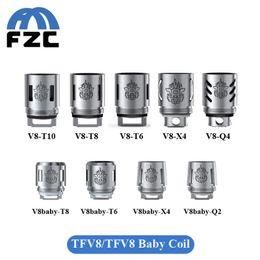 Wholesale Original SMOK TFV8 Baby Coil Head V8 Baby T8 X4 T6 Q2 ohm ohm TFV8 Coil Head Q4 T10 Vape Coil