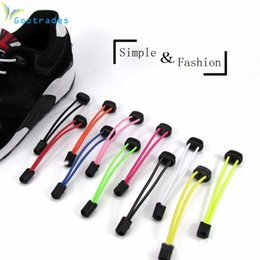 Sports Fitness Lock lace 6 colors a pair Of Locking Shoe Laces Elastic Sneaker Shoelaces Shoestrings Running Jogging Triathlon
