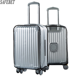 Promotion valise valise valise Haute Qualité PVC Mat Transparent imperméable Suitcase Housse de protection Travel Bagage Trolley Case plus épais Wear Dust Covers