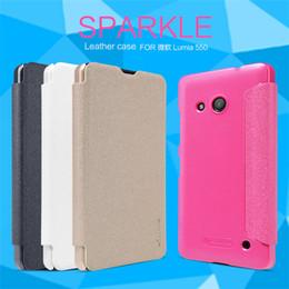 Wholesale NILLKIN Sparkle flip cover case Funda protectora de cuero de plástico duro para lumia pulgadas redmi pro pulgadas