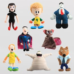 Wholesale Styles Hotel Transylvania Stuffed Plush Toys Dracula Frank Mavis Murray the Mummy Werewolf Man Bat Soft Dolls CM